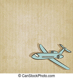 retro background with plane - vector illustration. eps 10