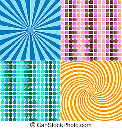 Retro backgrounds - Various retro style backgrounds
