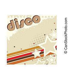 retro, baggrund, disco