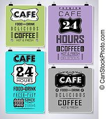 Retro bakery labels