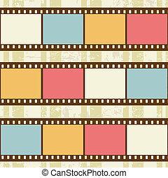 retro, bakgrund, med, film, remsor