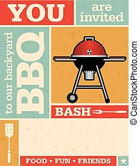 Retro Barbecue Party Invitation
