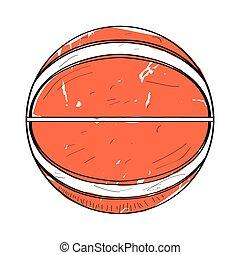 Retro basketball ball