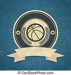 Retro Basketball Emblem