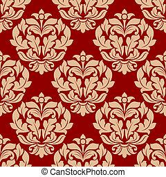Retro beige floral seamless pattern