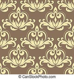 Retro beige seamless pattern
