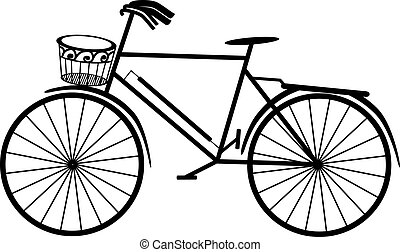 retro, bicicleta