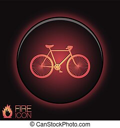 retro, bicicletta, icona