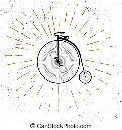 retro, bicicletta