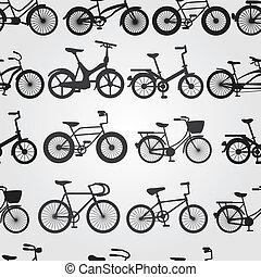 retro, bicikli, háttér