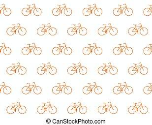 retro, bicikli, motívum