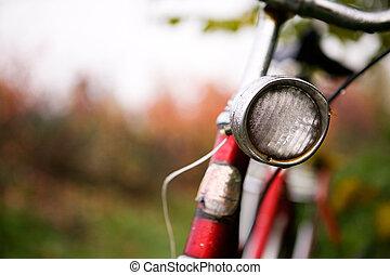 retro, bicikli, részletez