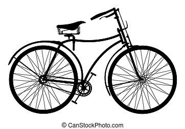 retro, bicikli