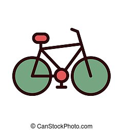 retro bicycle line and fill icon