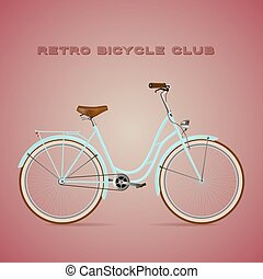 Retro Bicycle on a color background.