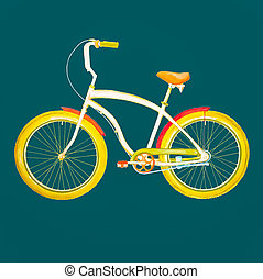 retro, bicycle.