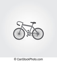 Retro bicycle symbol