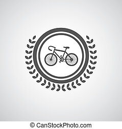 Retro bicycle vector symbol