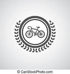 Retro bicycle vector symbol