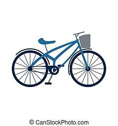 retro bicycle vehicle isolated icon