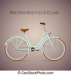 retro, bicycle.