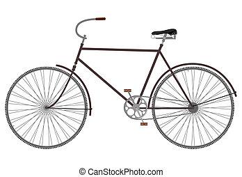 retro, bike.