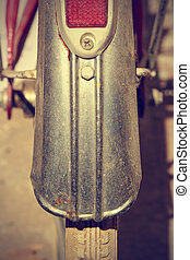 Retro bike fender detail. Vintage style.