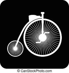 Retro bike icon.