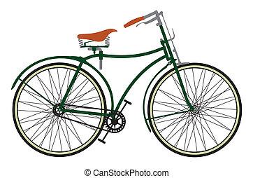Retro bike - Vector illustration of the retro bike