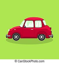 retro, bil, bakgrund, isolerat, färgrik