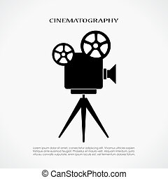 retro, bioscoop, pictogram