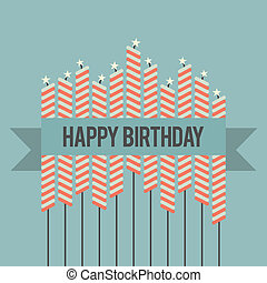 Retro Birthday Wish - Vector illustration of a retro-themed ...