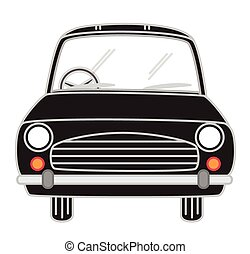 Black Cartoon Car Vector