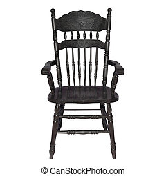 Retro black chair isolated on a white background