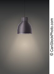Retro black stylish ceiling cone lamp