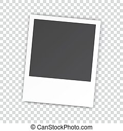 Blank Photo Frame With Adhesive Tape Isolated On Transparent