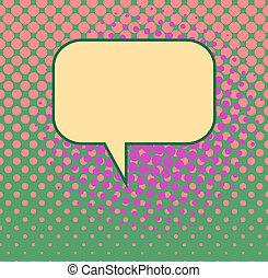 Retro Blank Word Bubble