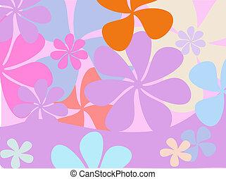 retro, bloem, achtergrond