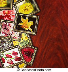 retro blommar, bakgrund