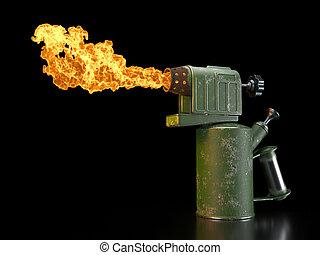 Retro blowtorch fire