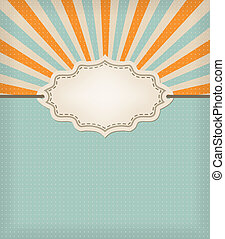 retro blue background with texture and frame