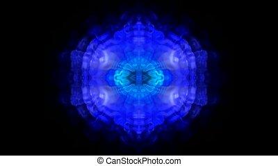 retro blue fancy pattern, Oriental Zen background
