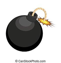 Retro Bomb Design Vector