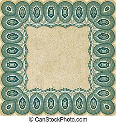 retro border pattern old background