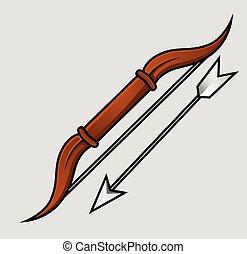 Bow with Arrow Vector