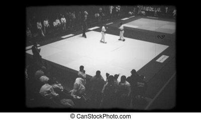 retro boxing 1920 white black