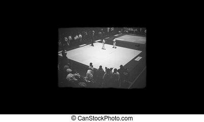 retro boxing 1920 white black small