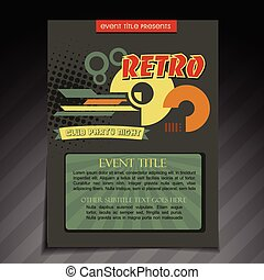 retro brochure design
