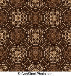 Retro brown floral pattern