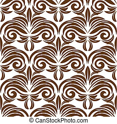 Retro brown floral seamless pattern